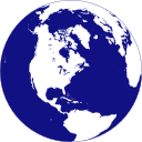 Planet earth blue and white clipart