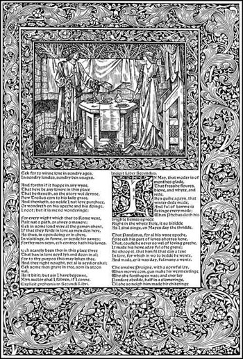 Page from The Works of Geoffrey Chaucer, 1896