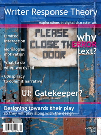 Writer Response Theory Magazine - Please close the door, by Aeioux